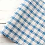 Paper Table Runner Roll - BLUE PAINTED CHECK - 20 Inches x 25 Feet