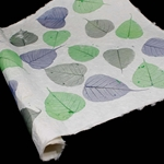 Heavyweight Mulberry Paper - Boda Leaf - BLUE/GREEN