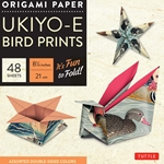 "8"" Origami Paper and Instruction Kit - UKIYO-E BIRD PRINTS"