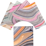 Origami Paper Pack - MARBLED KOZO - 15 cm