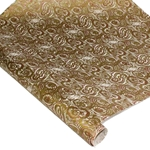 Silkscreened Nepalese Lokta Paper - Troubled Water - GOLD/COPPER ON NATURAL