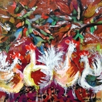Abstract Chicken Collage