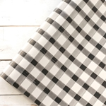 Paper Table Runner Roll - BLACK PAINTED CHECK - 20 Inches x 25 Feet