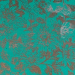 Lokta Paper Origami Pack - Floral - COPPER/SILVER ON TURQUOISE