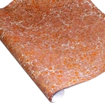 Italian Marbled Paper - STONE - Orange/Pink