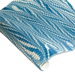 Marbled Indian Cotton Rag Paper - COMBED - BLUE
