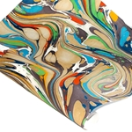 Marbled Indian Cotton Rag Paper - FLOW - MULTI COLOR
