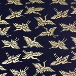 Japanese Chiyogami Yuzen Paper - BLACK AND GOLD CRANE