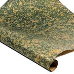 Italian Marbled Paper - STONE - Green/Gold