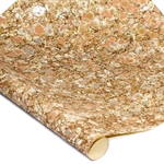Italian Marbled Paper - STONE - Peach/Gold/Silver