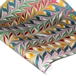 Marbled Indian Cotton Rag Paper - CHEVRON - METALLIC RAINBOW