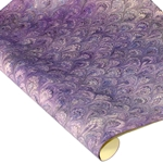 Italian Marbled Paper - PEACOCK - Bright Purples