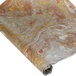 Marbled Lokta Paper - GOLD/SILVER/COPPER ON SLATE