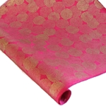 Silkscreened Nepalese Lokta Paper - Mums - GOLD ON MAGENTA