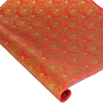 Silkscreened Nepalese Lokta Paper - Sagebrush - GOLD ON RED