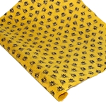Silkscreened Nepalese Lokta Paper - Bees - BLACK ON YELLOW