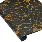 Marbled Indian Cotton Rag Paper -  GOLD/BLACK
