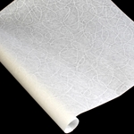 Japanese Tissue - Ukigumo Lace Backed Paper - WHITE