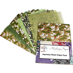 Japanese Washi Decorative Paper Pack - GREEN