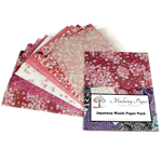 Japanese Washi Decorative Paper Pack - PINK