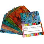 "Marbled Mulberry Momi Paper Pack in Assorted Colors (10 Sheets of 8.5"" x 11"" Paper)"
