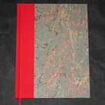 FRENCH MARBLED BOOK COVER