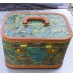 DECOUPAGED LUGGAGE AND FURNITURE