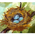 BIRDS NEST PAPER PAINTING