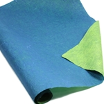 Thai Reversible Unryu Paper - BLUE/LIME