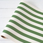 Paper Table Runner Roll - DARK GREEN STRIPE-20 Inches x 25Feet