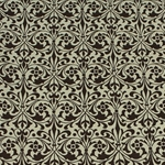 Italian Carta Varese Paper - Floral Damask - BROWN