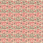 Italian Carta Varese Paper - FLOWERS - Red and Brown