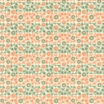 Italian Carta Varese Paper - Flowers - GREEN AND ORANGE