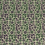 Italian Carta Varese Paper - FLOWERS - Green and Purple