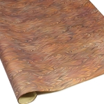 Italian Marbled Paper - TWILLED - Brown/Orange