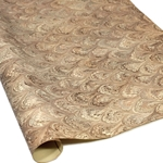 Italian Marbled Paper - PEACOCK - Brown/Silver