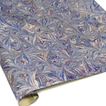 Italian Marbled Paper - STAR - Blue/Red