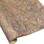 Italian Marbled Paper - STAR - Pink/Blue
