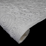 Thai Heavy Embossed Mulberry Paper - SWIRLING OVALS