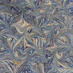 Italian Marbled Origami Paper - STAR - Blue/Red