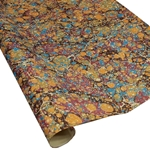 Italian Marbled Paper - STONE - Orange/Red/Blue