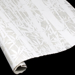 Silkscreened Nepalese Lokta Paper - Bamboo - WHITE ON NATURAL