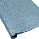 Embossed Nepalese Lokta Paper - DOTS - Blue