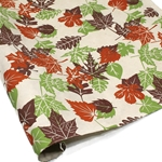 Silkscreened Nepalese Lokta Paper - AUTUMN LEAVES