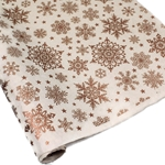 Silkscreened Nepalese Lokta Paper - SNOWFLAKE - Copper on Cream