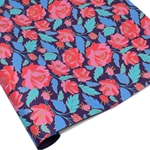 Metallic Screenprinted Indian Cotton Rag Paper - ROSE - Pink/Purple