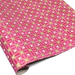 Metallic Screenprinted Indian Cotton Rag Paper - KALEIDOSCOPE - Pinks