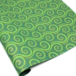 Metallic Screenprinted Indian Cotton Rag Paper - OCTOPUS - Greens