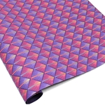 Metallic Screenprinted Indian Cotton Rag Paper - HOLLYWOOD - Pink/Purple