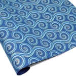 Metallic Screenprinted Indian Cotton Rag Paper - OCTOPUS - Blues